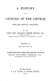 A History of the Councils of the Church, from the Original Documents. Volume II: A.D. 326 to A. D. 329