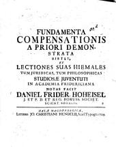 Fundamenta compensationis a priori demonstrata