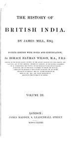 The History of British India: Volume 3