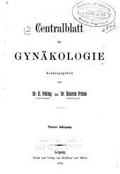 Zentralblatt für Gynäkologie: Band 4