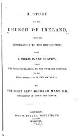 History of the Church of Ireland: From the Reformation to the revolution; with a preliminary survey, from the Papal usurpation, in the twelfth century, to its legal abolition in the sixteenth