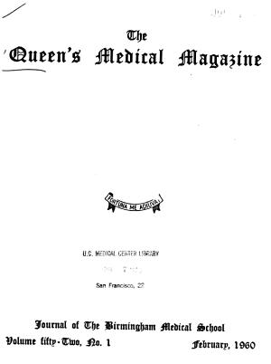 Queen s Medical Magazine PDF