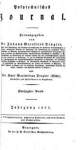 Polytechnisches Journal: Volume 50