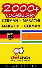 2000+ German - Marathi Marathi - German Vocabulary