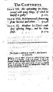 Animadversions upon monsieur Le Clerc's reflections upon our Saviour and his apostles [&c.] in his Supplement to dr. Hammond's Paraphrase and annotations upon the New Testament