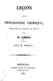 Leçons sur la philosophie chimique