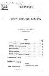 Prospectus of King's College, London: academical year 1854 - 5