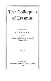 The Colloquies of Erasmus: Volume 2