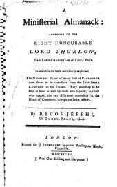 A ministerial Almanach