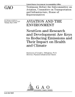 Aviation and the Environment  NextGen and Research and Development are Keys to Reducing Emissions and Their Impact on Health and Climate PDF