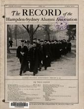 The Record of Hampden Sydney College PDF