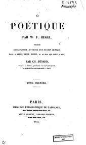 La poétique: Volume1