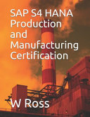 SAP S4 HANA Production and Manufacturing Certification PDF