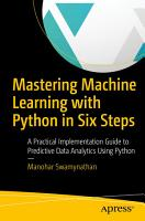 Mastering Machine Learning with Python in Six Steps PDF