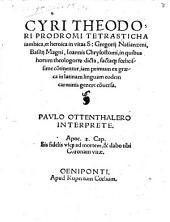 Tetrasticha iambica et heroica in vitas s. Gregorii Natianzen Basilii Magni Joannis Chrysostomi