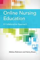 Online Nursing Education  A Collaborative Approach PDF