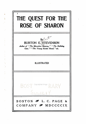 The Quest for the Rose of Sharon