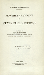 Monthly Check-list of State Publications