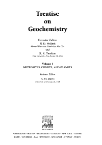Treatise on Geochemistry  Meteorites  comets  and planets PDF