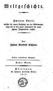 Geschichte der neuen Welt: Volume 1