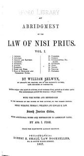 An abridgement of the law of nisi prius ...