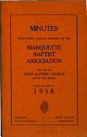 Minutes     of the Marquette Baptist Association PDF