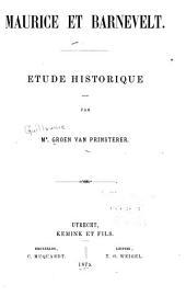 Maurice et Barnevelt: étude historique