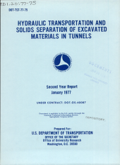 Hydraulic Transportation and Solids Separation of Excavated Materials in Tunnels PDF