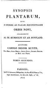 Synopsis plantarum: quas in itinere ad plagam aequinoctialem orbis novi