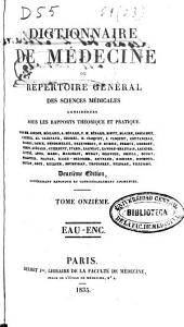 Dictionnaire de médecine: ou, Répertoire général des sciences médicales considérées sous le rapport théorique et pratique, Volume11