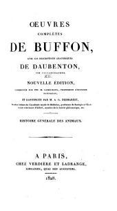 Oeuvres complètes de Buffon: avec les descriptions anatomiques de Daubenton, son collaborateur, Volume12