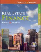 Real Estate Finance  Theory   Practice PDF