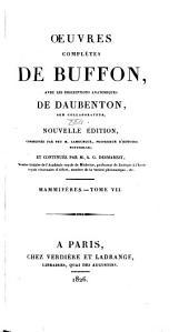 Oeuvres complètes de Buffon: avec les descriptions anatomiques de Daubenton, son collaborateur, Volume22,Partie7