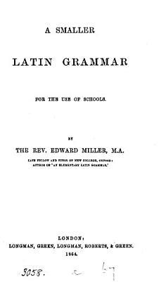 A smaller Latin grammar