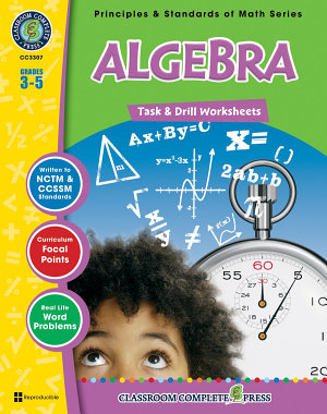 Algebra   Task   Drill Sheets Gr  3 5 PDF