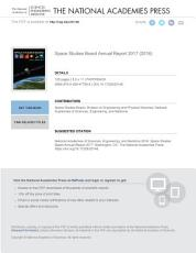Space Studies Board Annual Report 2017 PDF