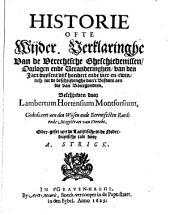 Historie ofte wijder verklaringhe van de Vtrechtsche gheschiedenissen, oorlogen ende veranderinghen van den jare duysent vijfhondert ende vier-en-twintich tot de beschrijvinghe van 't bisdom aen die van Bourgondien: Volume 1