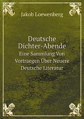 Deutsche Dichter-Abende