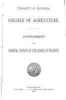 Report of the Professor in Charge to the President  Being a Part of the Report of the Regents of the University     PDF