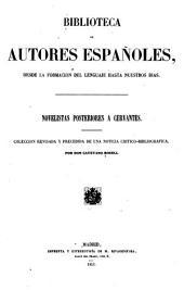 Novelistas posteriores a Cervantes: Volumen 1