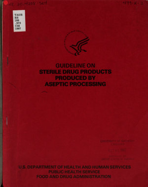 Guideline on Sterile Drug Products Produced by Aseptic Processing PDF