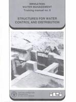 Structures for Water Control and Distribution PDF