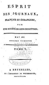 L'Esprit des journaux, françois et étrangers: Numéros5à6