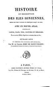 Histoire et description des îles Ioniennes