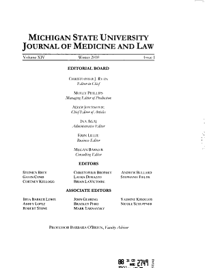 Journal of Medicine and Law