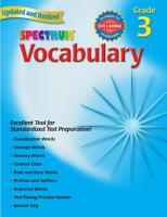Vocabulary  Grade 3 PDF