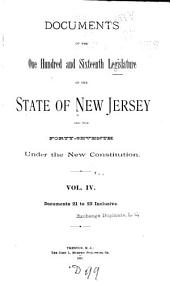 Journal of the ... Senate of the State of New Jersey ...: Volume 4