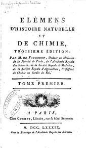 Élémens d'histoire naturelle et de chimie: Volume1