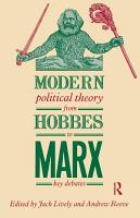 Modern Political Theory from Hobbes to Marx PDF