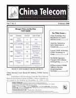 China Telecom Monthly Newsletter PDF